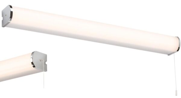 Bathroom 15w LED switched wall light in chrome very bright and IP44