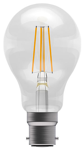 4w BC LED Dimmable Filament GLS Light Bulb 470lm Warm White