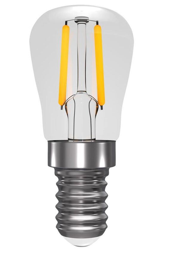 Clear 2w LED Dimmable Filament E14 Pygmy Light Bulb Warm White