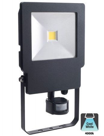 Bell Skyline 50w LED Outdoor PIR Security Floodlight Black IP65