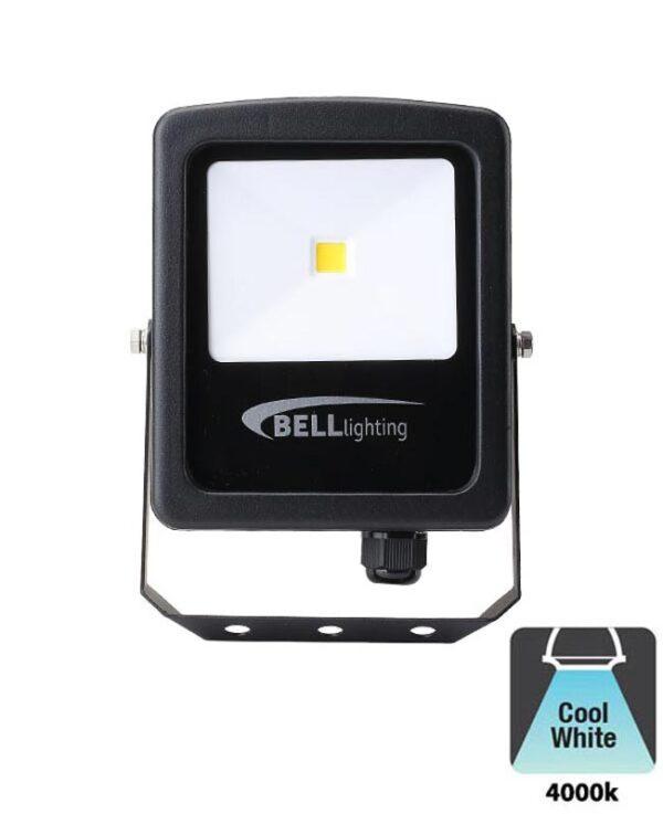 Bell Skyline Slim 10w LED Outdoor Security Floodlight Black IP65