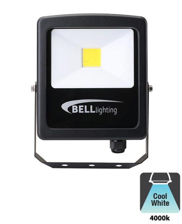 Bell Skyline Slim 20w LED Outdoor Security Floodlight Black IP65
