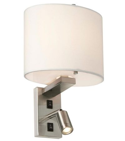 Elstead Belmont Switched Wall Light 1 LED Reading Lamp Brushed Nickel