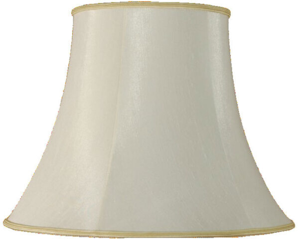 Cream faux silk bowed empire shade