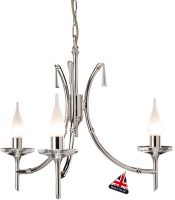Elstead Brightwell Polished Nickel 3 Light Dual Mount Chandelier
