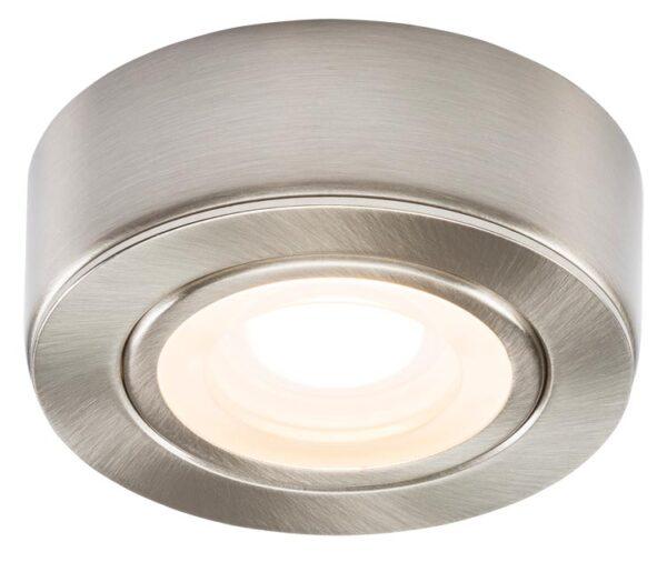 Kitchen under cabinet 2w warm white LED in brushed chrome 230v