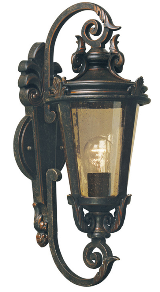 B And M Outdoor Wall Lights : Baltimore Medium Bronze Traditional Outdoor Wall Light BT1/M