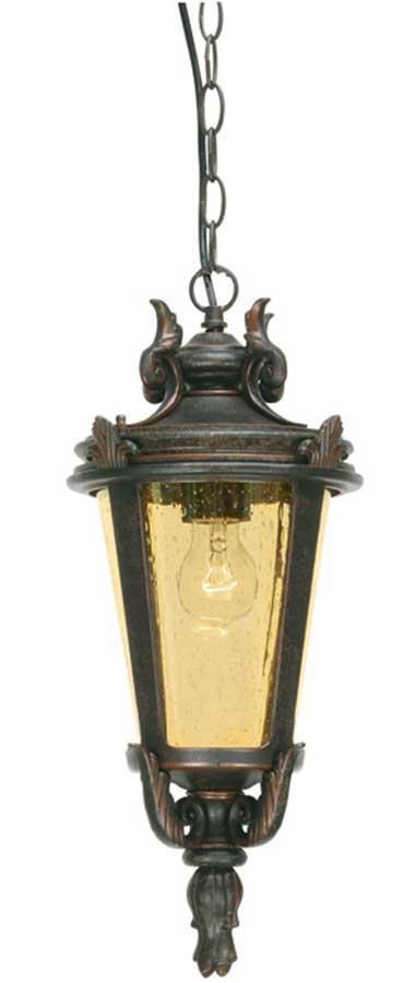 Baltimore Large Bronze Traditional Hanging Porch Lantern