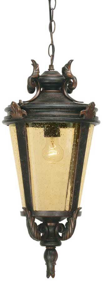 Baltimore Medium Bronze Traditional Hanging Porch Lantern