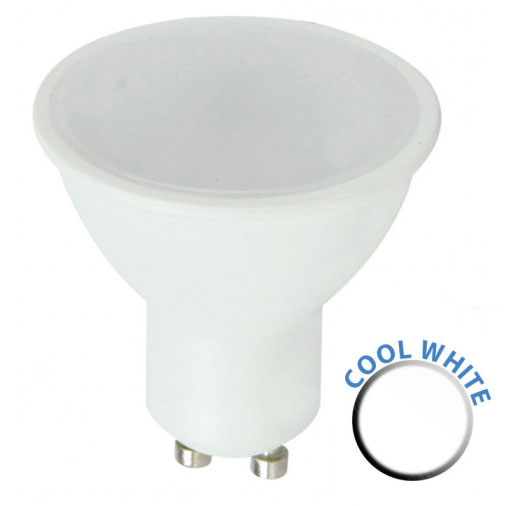 Budget 5W SMD LED GU10 Frosted Bulb Cool White 450 Lumen