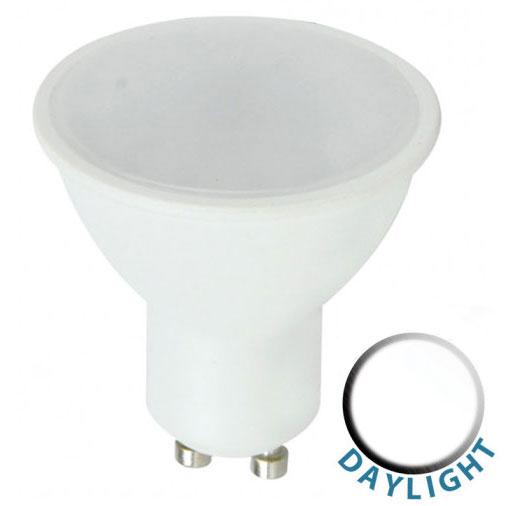Budget 5W SMD LED GU10 Frosted Bulb Daylight White 450 Lumen