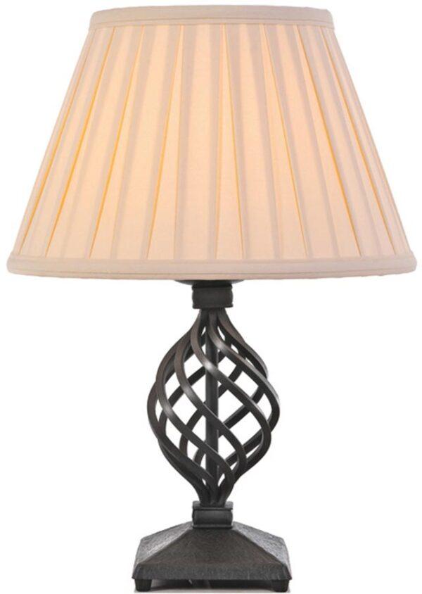 Elstead Belfry Medieval Black Ironwork Table Lamp Uk Made