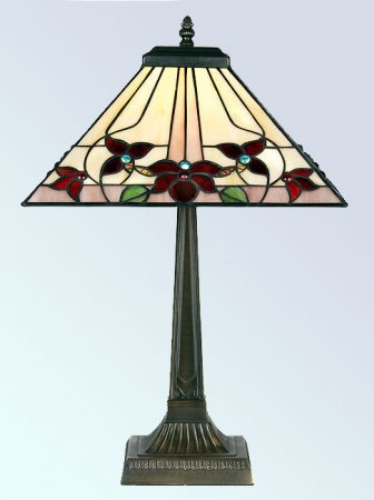 Camillo Square 355mm Tiffany Table Lamp