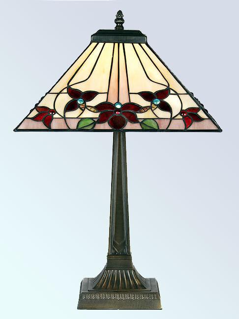 Camillo Square 355mm Tiffany Table Lamp