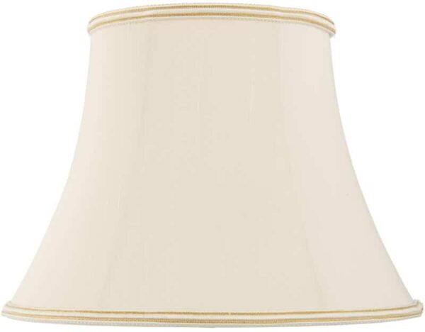 Celia Oval 20 Inch Oyster Faux Silk Empire Floor Lamp Shade