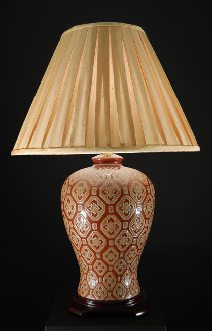 Hand Painted Classic Ginger Jar Table Lamp WL702918chamBP