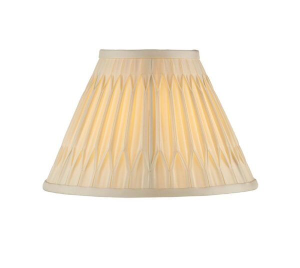"""Chatsworth Pinch Pleat Tapered 10"""" Ivory Silk Small Table Lamp Shade"""