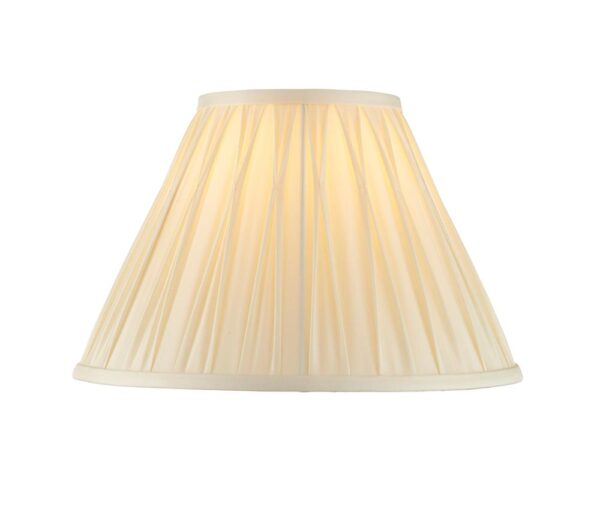 """Chatsworth Pinch Pleat Tapered 12"""" Ivory Silk Table / Ceiling Lamp Shade"""