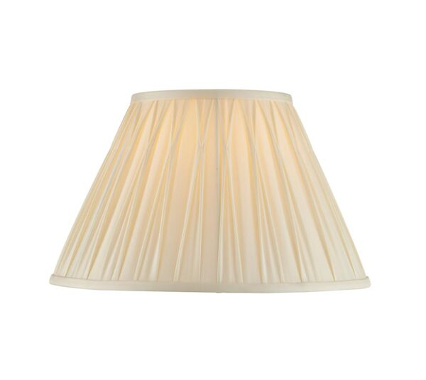Chatsworth pinch pleat tapered 14 inch ivory silk table lamp shade main image