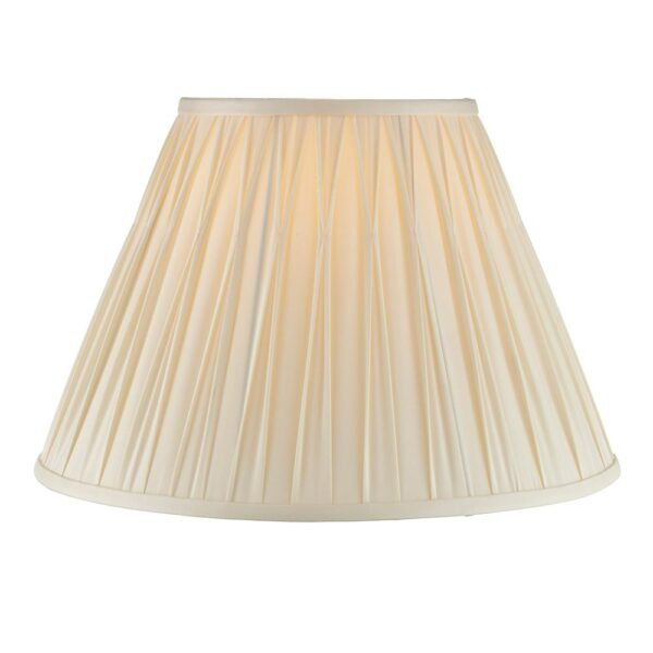 Chatsworth pinch pleat tapered 16 inch ivory silk table lamp shade main image