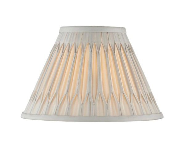 """Chatsworth Pinch Pleat Tapered 10"""" Silver Silk Small Table Lamp Shade"""