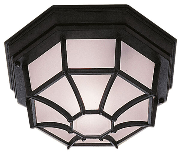 Traditional Black IP44 Flush Fitting Outdoor Porch Lantern