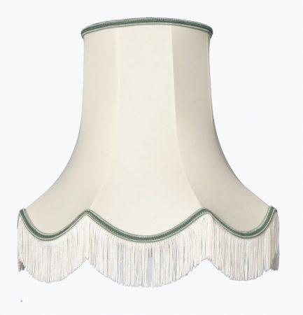 Classic Scallop Cream And Apple 6in Clip on Lampshade