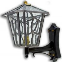 Cottingham Clear Leaded Glass Upward Outdoor Wall Lantern