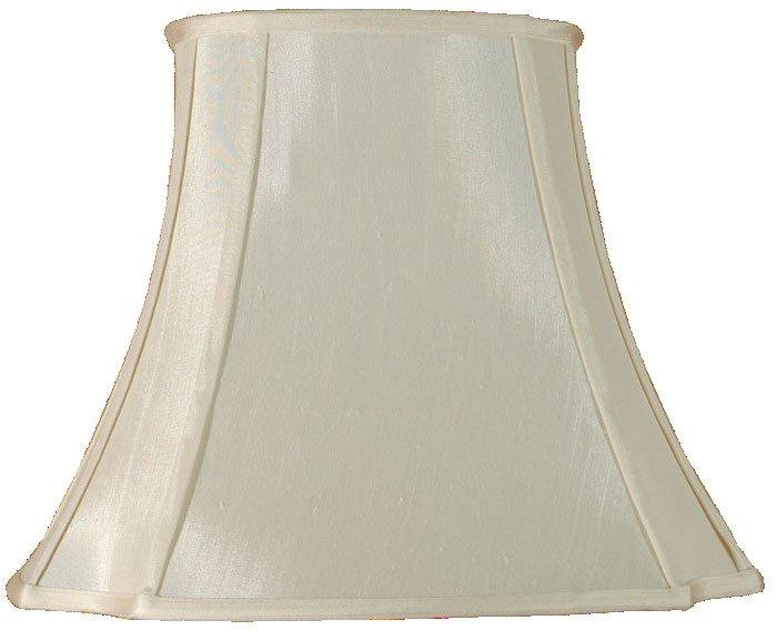 Cream oval cut corner faux silk lamp shade