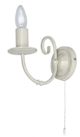 Tuscany Cream And Gold Single Switched Wall Lamp