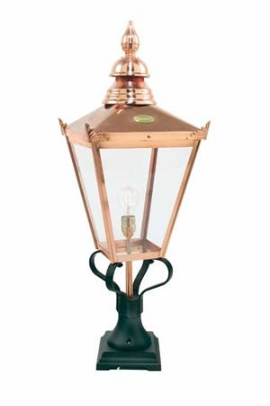 Norlys Chelsea Copper Outdoor Post Top Lantern 25yr Guarantee