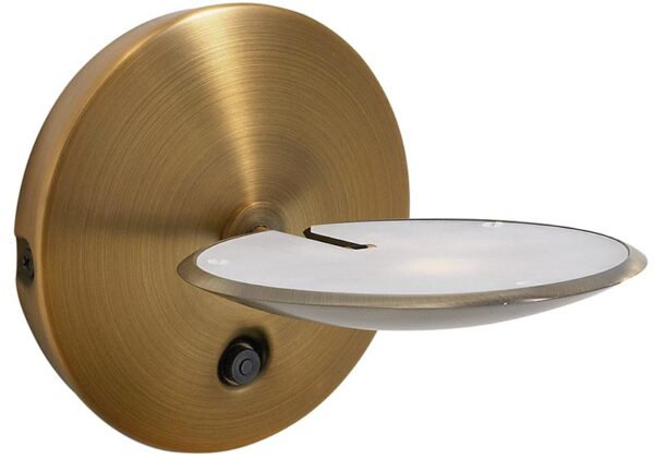 Dar Oundle Touch Dimmer LED Wall Light Bronze