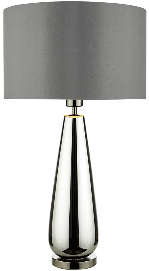 Dar pablo glass table lamp black chrome grey shade pab4267 dar pablo glass table lamp black chrome grey shade aloadofball Gallery