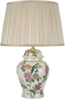 Dar Peony Porcelain Temple Jar Table Lamp Base Only