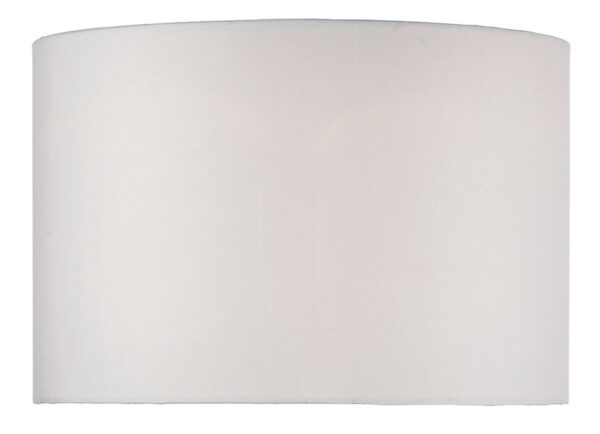 Dar Ivory Faux Silk 35cm Drum Table Lamp Shade