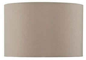 Taupe Faux Silk 39cm Drum Medium Table Lamp Shade