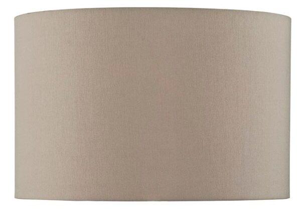 Taupe Faux Silk 39cm Drum Medium Table Lamp Shade