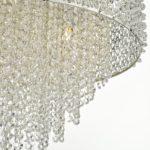 Dar Acelynn Luxury 6 Light Crystal Pendant Chandelier Polished Chrome