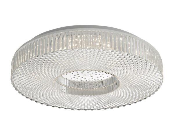 Dar Cimona Bright 24w LED Medium Flush Low Ceiling Light Acrylic