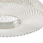 Dar Cimona Very Bright 36w LED Large Flush Low Ceiling Light Acrylic