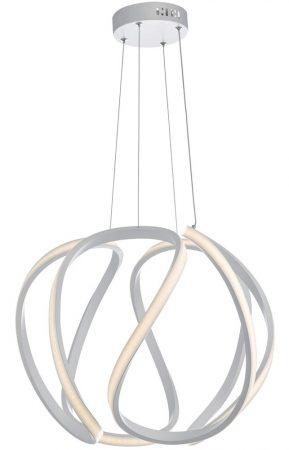 Dar Alonsa Large LED Pendant Ceiling Light Sphere White