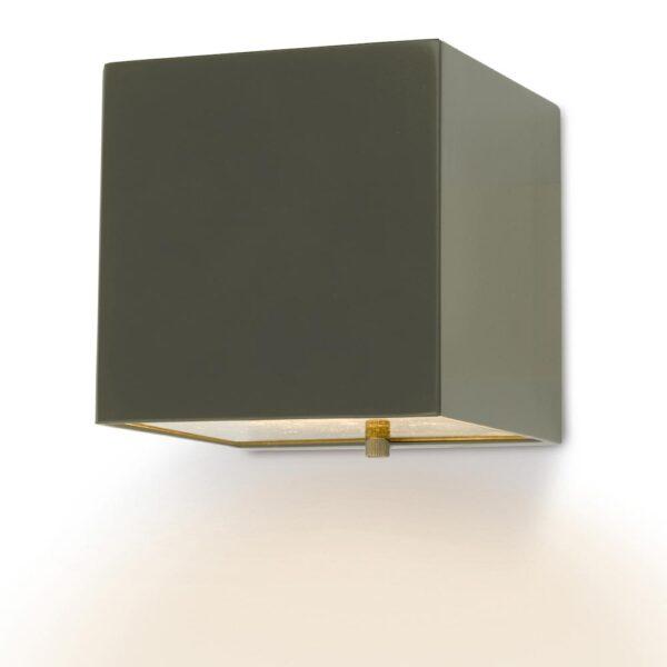Dar Bacchus Contemporary Cube Outdoor Wall Light Matt Silver IP44