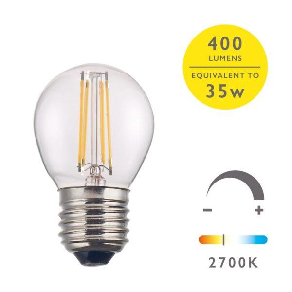 4w LED golf ball light bulb warm white 400 lumen for E27 main image