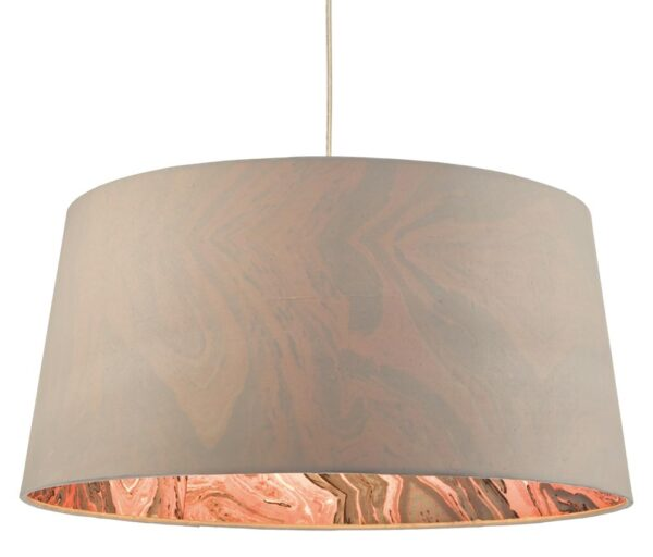 Dar Dolores 49cm Marble Lined Tapered Ceiling Lamp Shade Grey