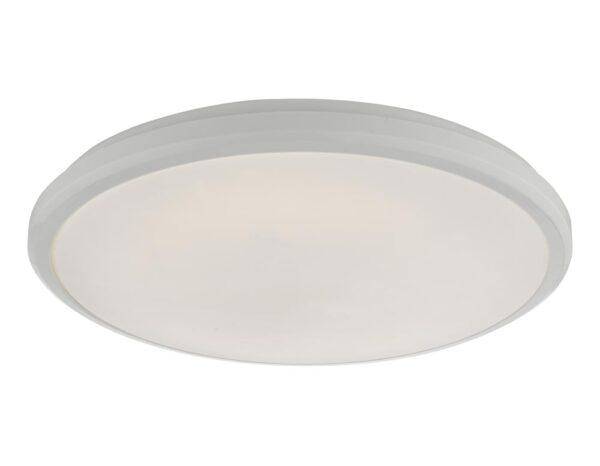 Dar Emmett 18w LED Flush Mount Bathroom Ceiling Light White IP44