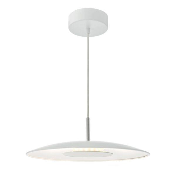 Dar Enoch 18w Dimming LED Single Ceiling Pendant Light Matt White