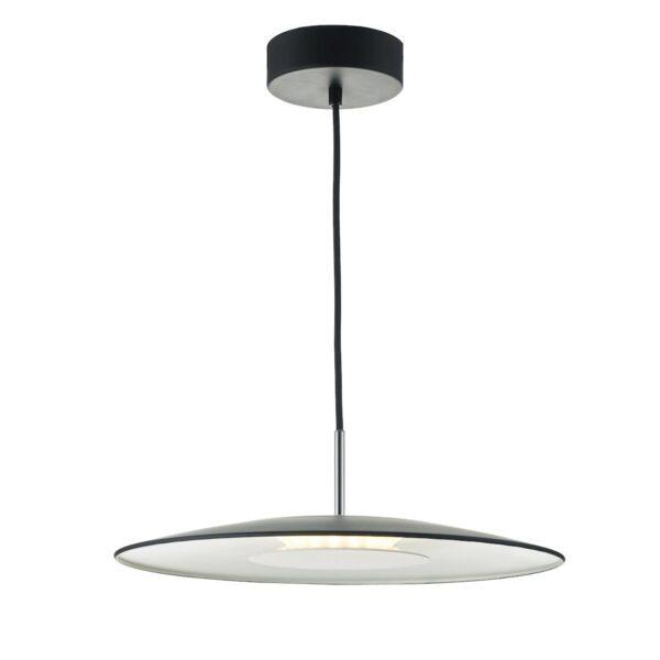 Dar Enoch 18w Dimming LED Single Ceiling Pendant Light Matt Black