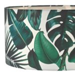 Dar Filip Green Palm Print Ceiling / Table Lamp Shade E27 / E14 / B22