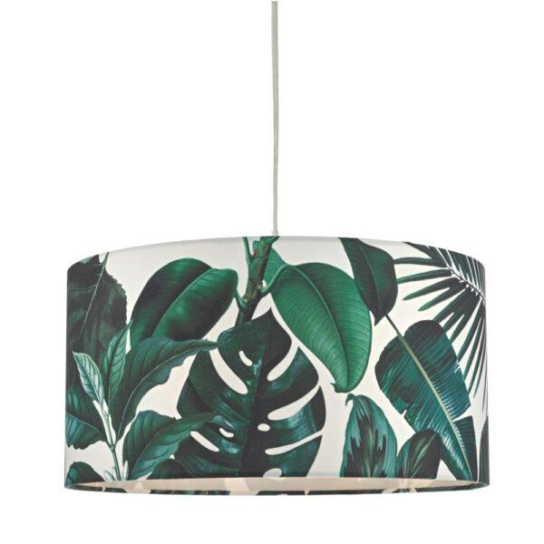 Dar Filip Green Palm Print Ceiling / Table Lamp Shade E27 / E14 / B22