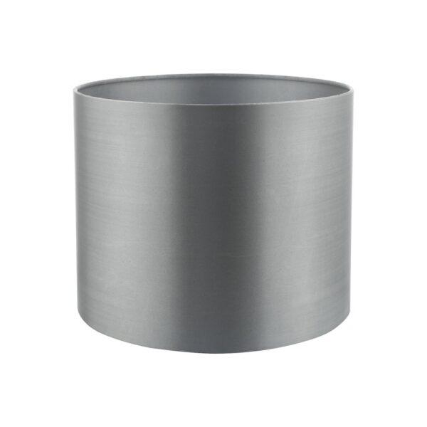 Dar Hilda 12cm Grey Faux Silk Clip On Wall Light / Chandelier Shade
